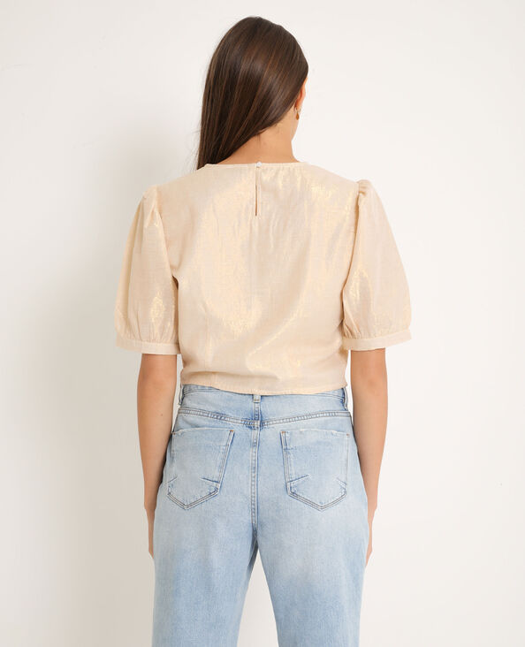 Blusa corta dorato