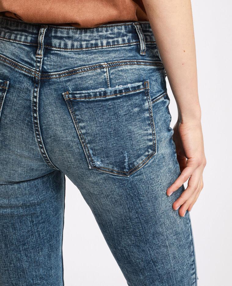 Jeans skinny push up blu grezzo