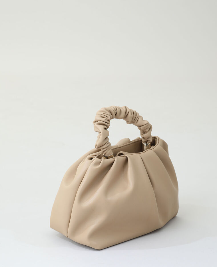 Borsa morbida in similpelle marrone - Pimkie
