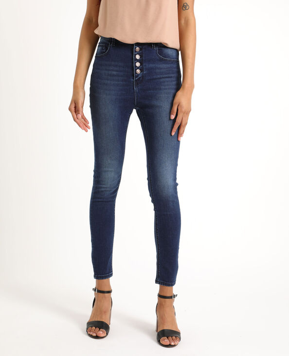 Jeans skinny high waist blu scuro