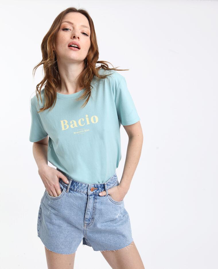 T-shirt Bacio verde acqua