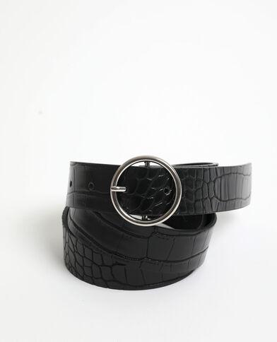 Cintura effetto coccodrillo nero
