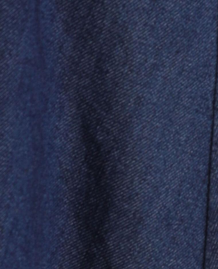 Abito camicia di jeans blu grezzo
