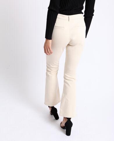 Pantalone flare beige