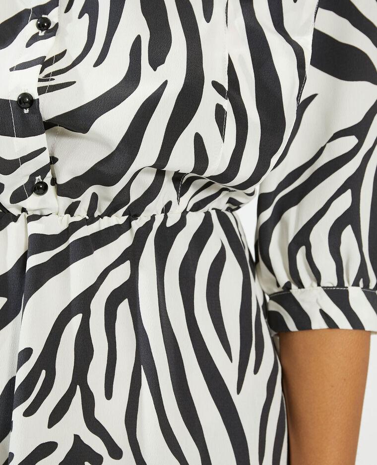 Abito camicia con motivi fantasia bianco - Pimkie