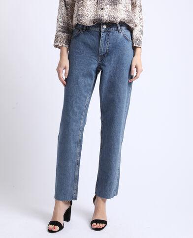Jeans dritto mid waist blu denim