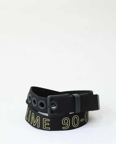 Cintura in cotone nero