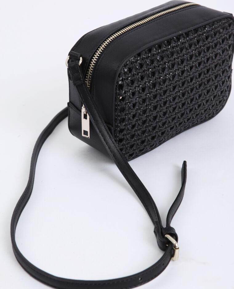 Piccola borsa intrecciata nero