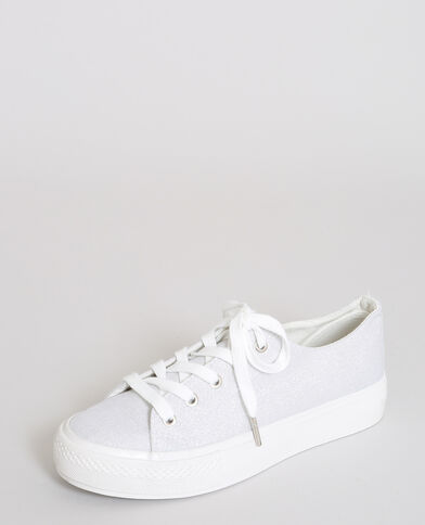 Scarpe sportive in tela iridata bianco