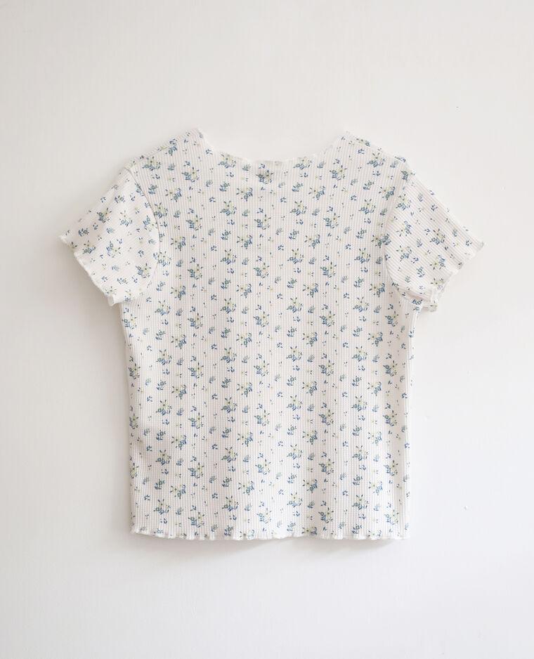 T-shirt con stampa a fiori bianco sporco - Pimkie