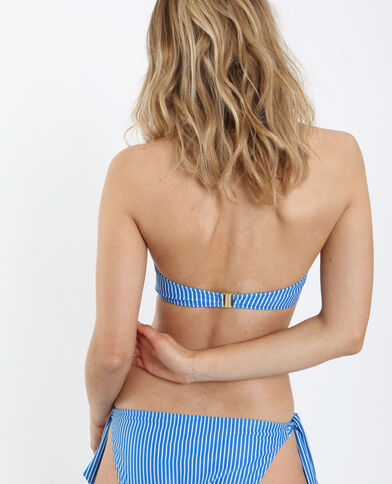 Pezzo sopra di bikini a righe blu