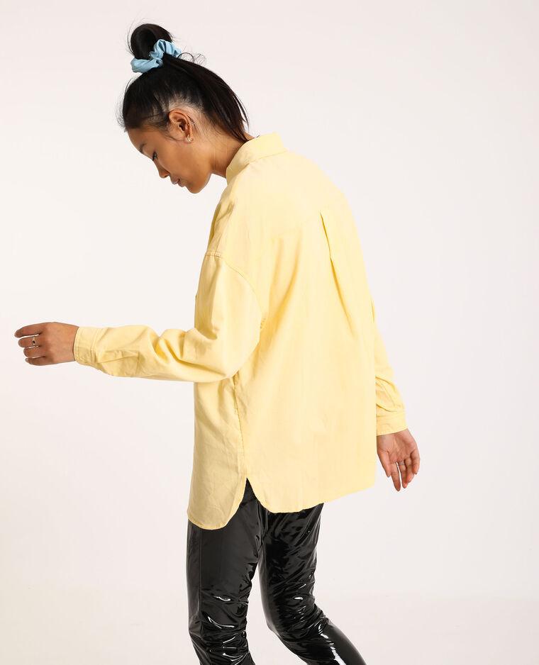 Camicia oversize in velluto a coste giallo