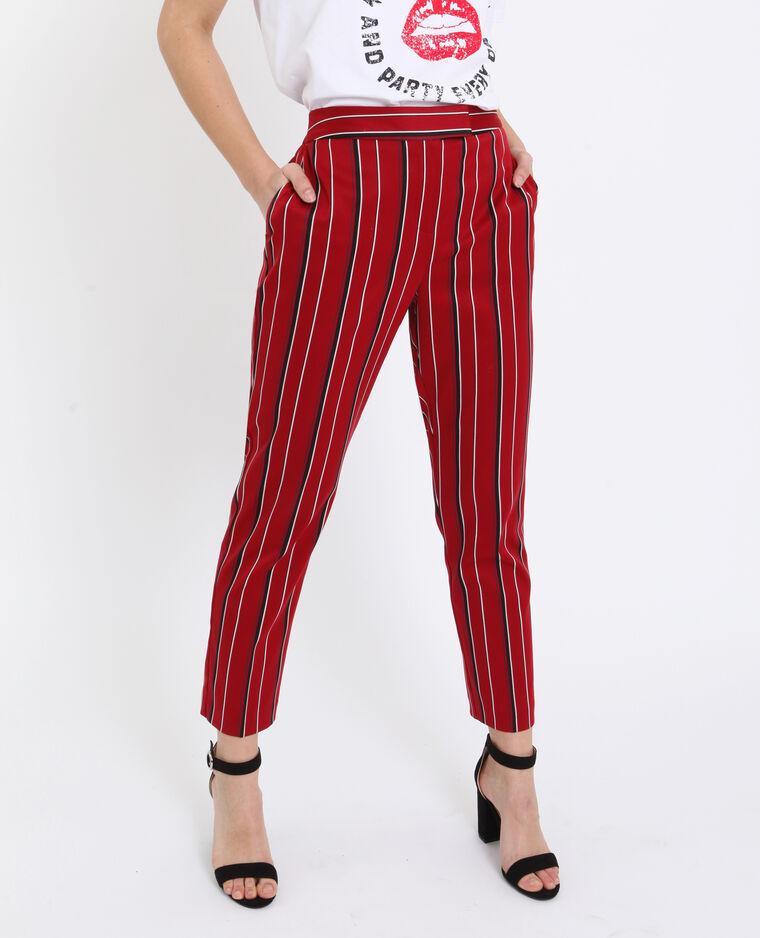 Pantalone city con stampa rosso