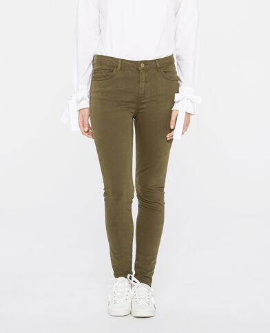 Pantalone skinny verde