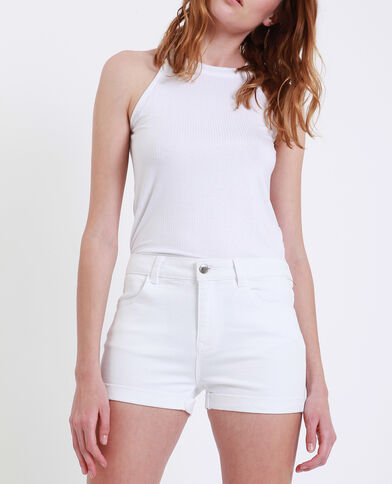 Short in jeans bianco