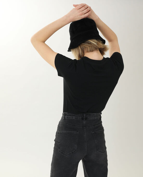 T-shirt a maniche corte nero - Pimkie