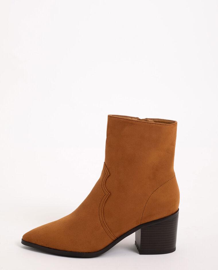 Boots western effetto pelle scamosciata beige sabbia