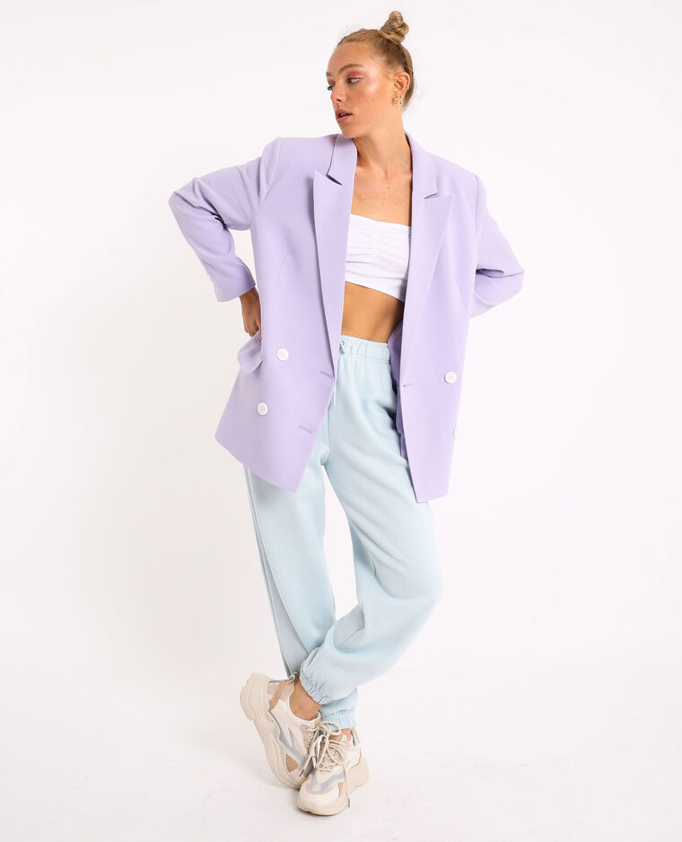 Pantalone da jogging in tessuto felpato blu cielo