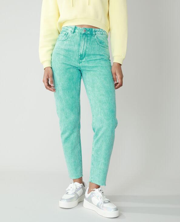 Jeans mom high waist verde - Pimkie