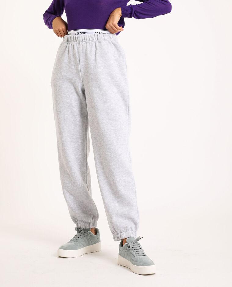 Pantalone in cotone felpato nero