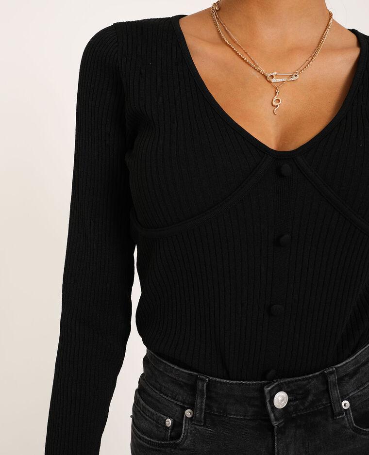 Top in maglia nero