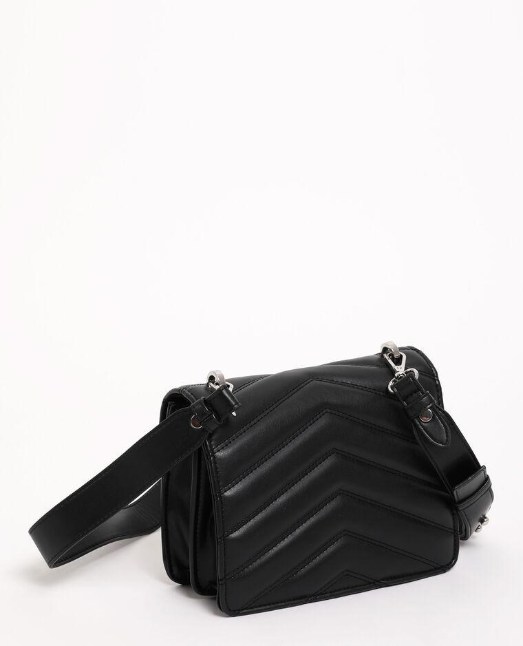 Borsa boxy trapuntata nero