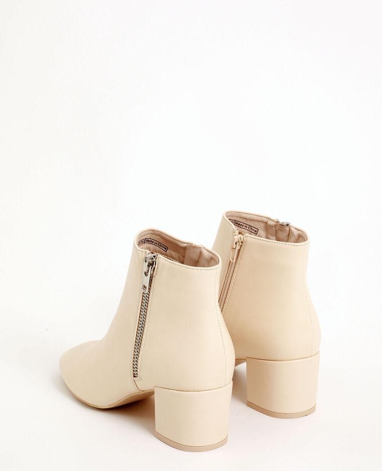 Boots vintage bianco sporco