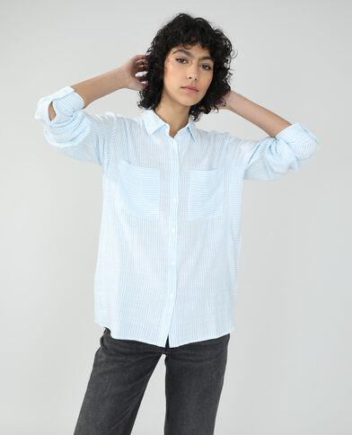 Camicia oversize a righe bianco sporco - Pimkie