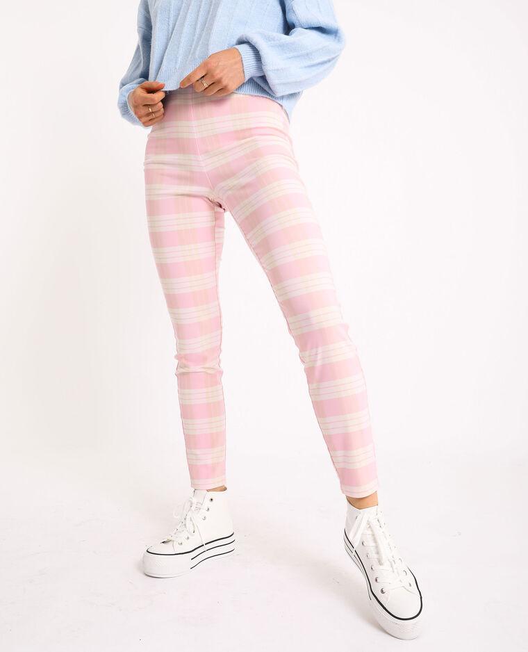 Pantalone stretch rosa