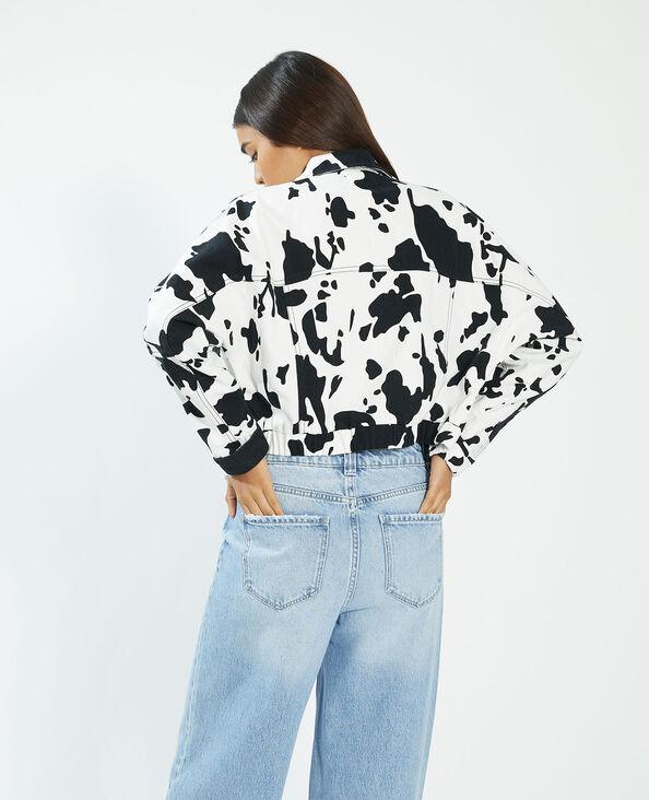 Giacca di jeans maculata bianco - Pimkie