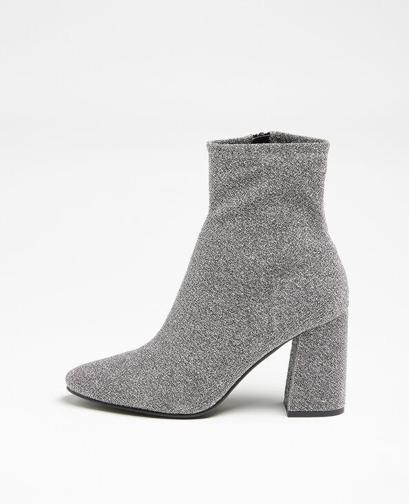 Stivali in microfibra. grigio paillettato
