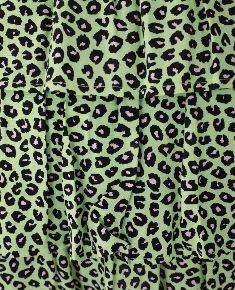 Abito leopardato con volant verde - Pimkie
