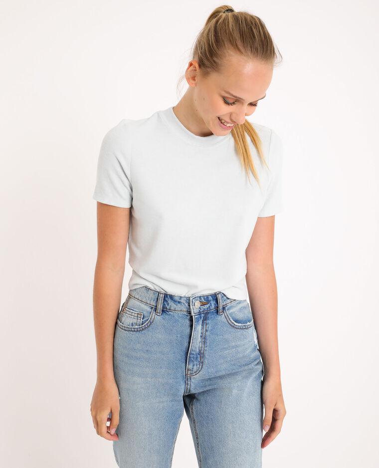 T-shirt morbida blu cielo