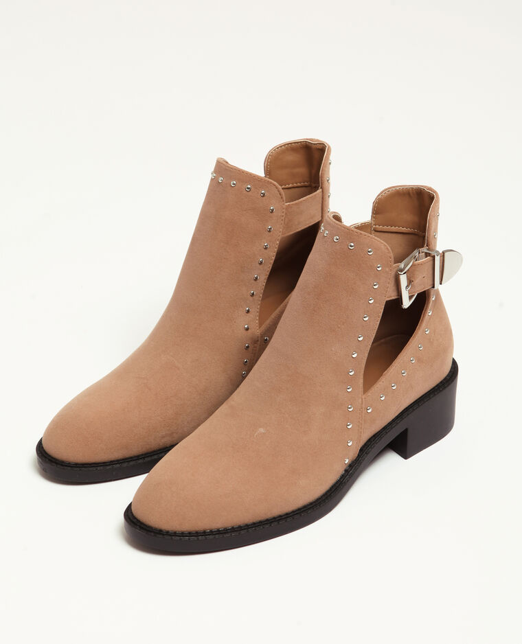 Boots traforati écru