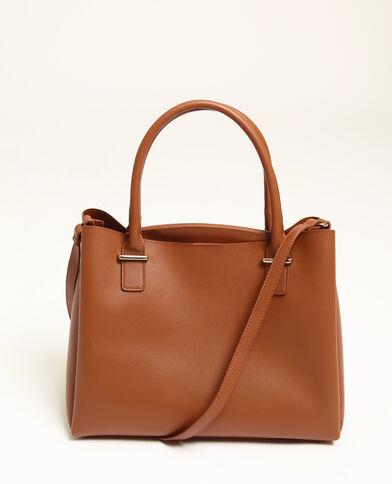 3103ab08a9 Grande borsa in finta pelle caramello
