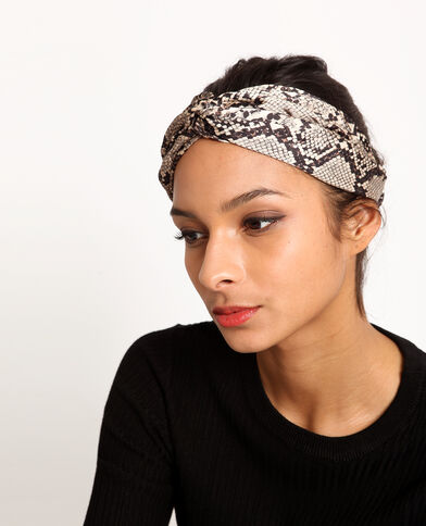 Headband pitone beige corda