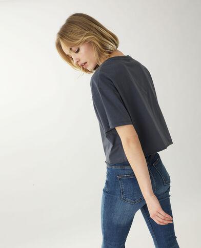 T-shirt cropped grigio scuro - Pimkie
