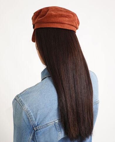 Cappellino blu marino velluto ruggine