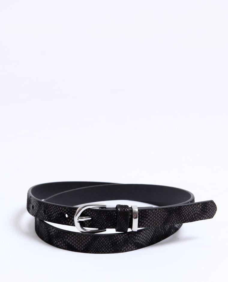 Cintura pitonata nero