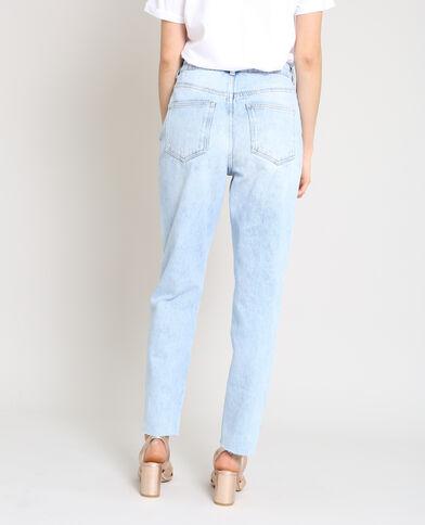 Jeans dritti a vita alta blu