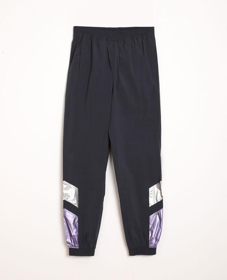 Pantalone da jogging con patch blu marino