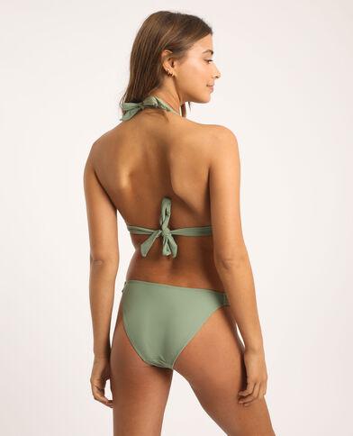 Pezzo sotto di bikini in tessuto intrecciato verde