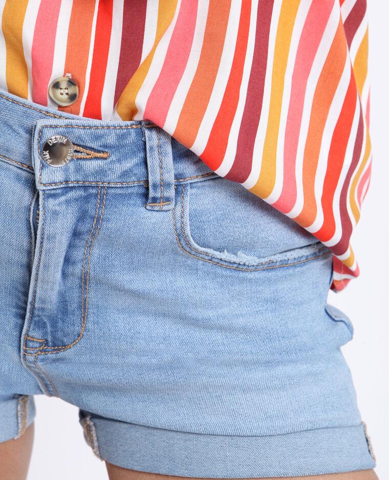 Short in jeans blu delavato