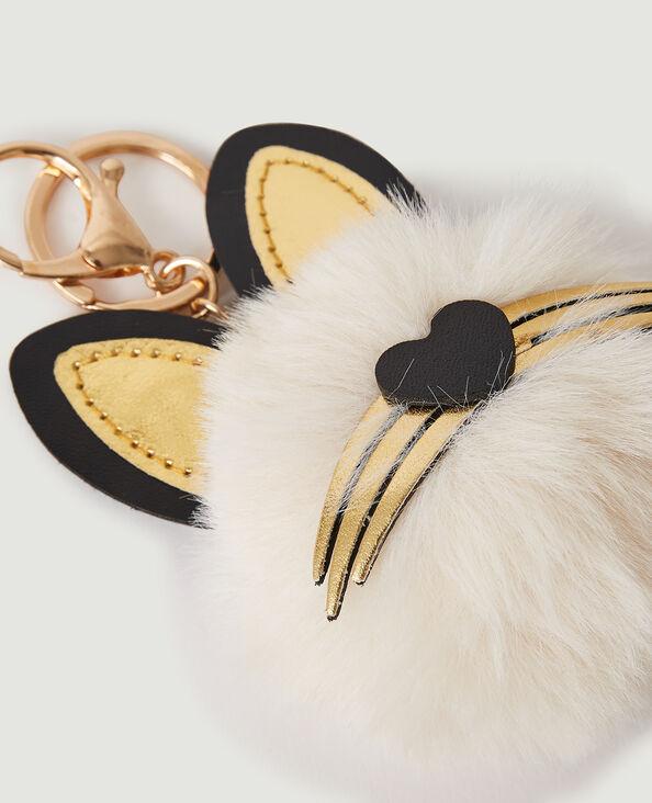 Portachiavi gatto beige corda - Pimkie