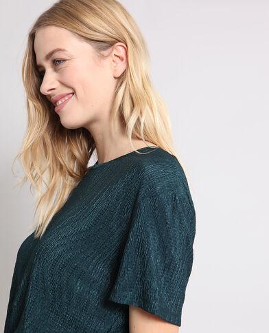 T-shirt con texture verde