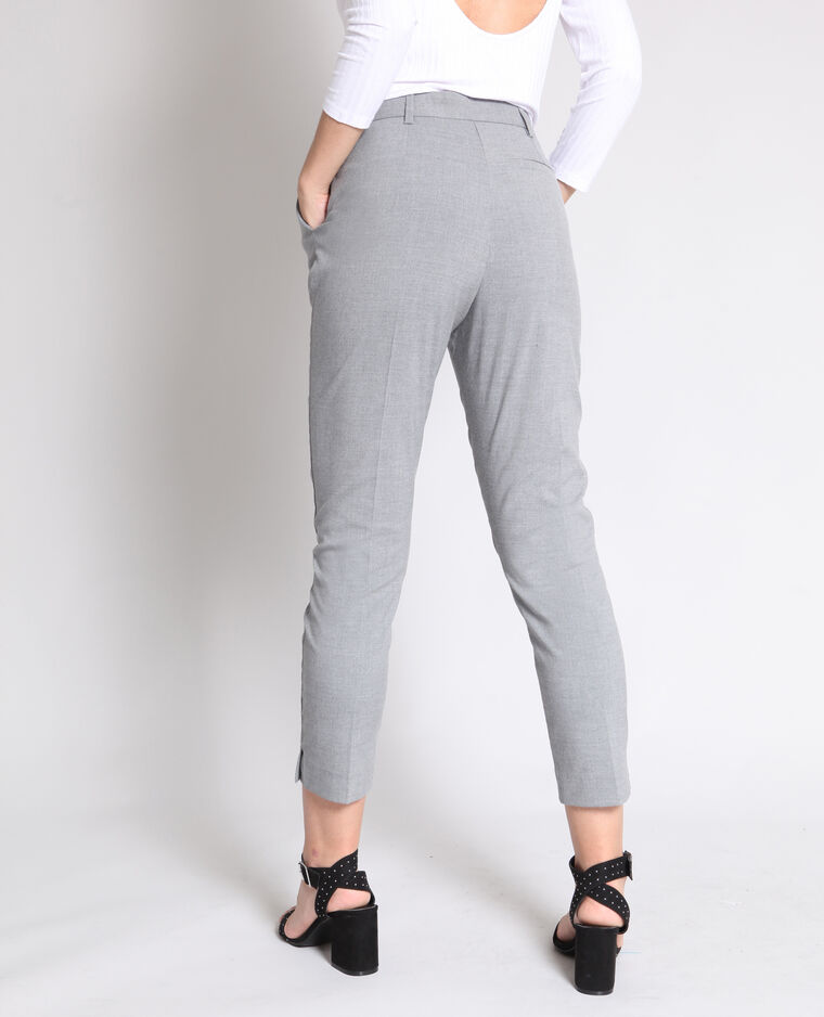 Pantalone a sigaretta grigio chiné