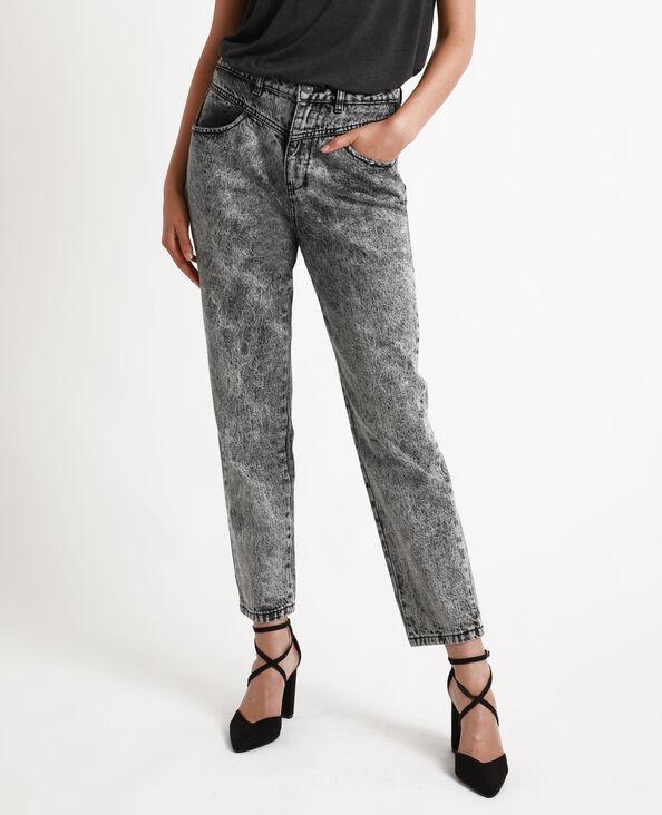 Jeans mom grigio acido grigio antracite