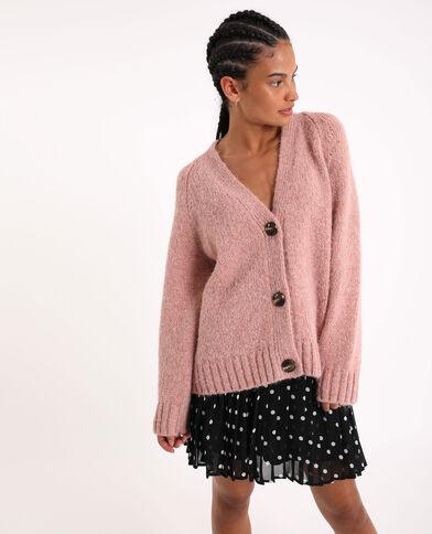 Cardigan ampio rosa cipria