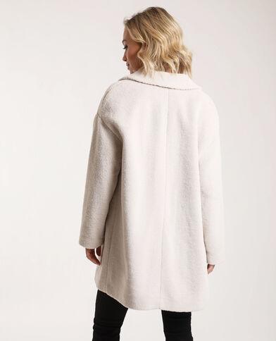 Cappotto in pelliccia ecologica bianco