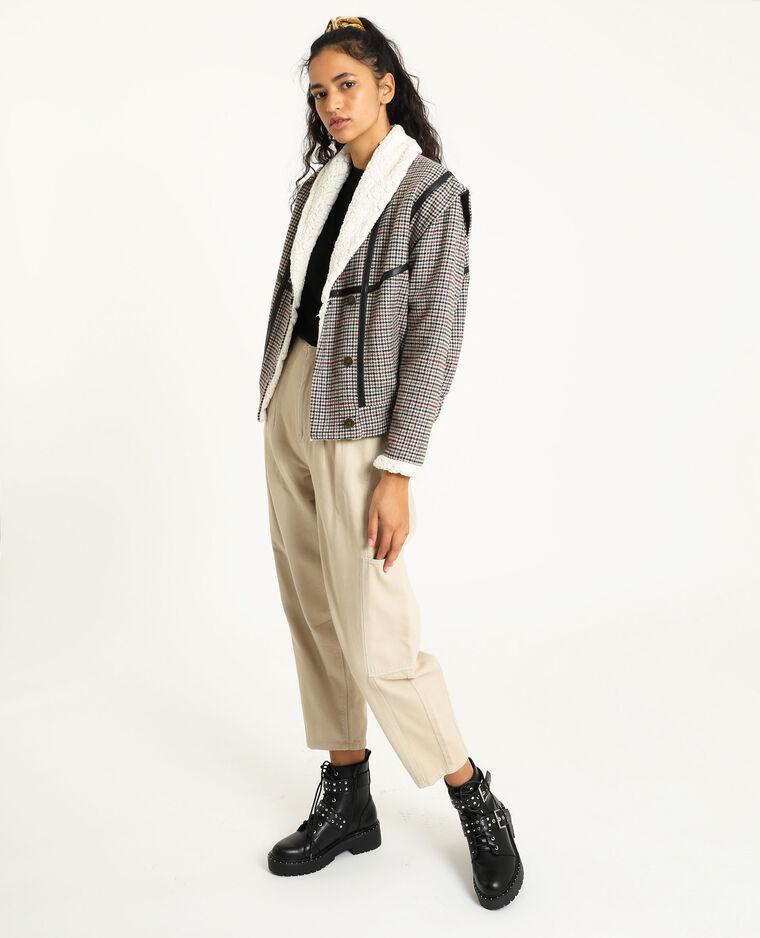 Pantalone slouchy in tela jeans écru - Pimkie